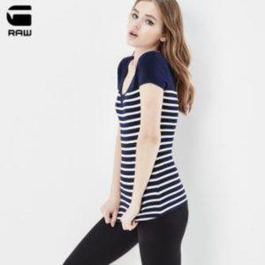 G-Star raw t-shirt, stripes Size S